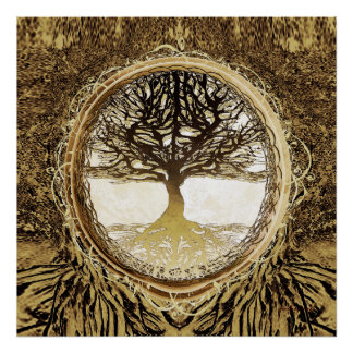Tree of Life Brown Tree Poster