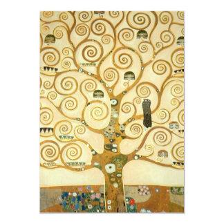 Tree of Life by Gustav Klimt 13 Cm X 18 Cm Invitation Card