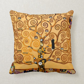 Tree of Life by Gustav Klimt Fine Art Cushion