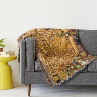 Tree of Life by Gustav Klimt Fine Art Throw Blanket
