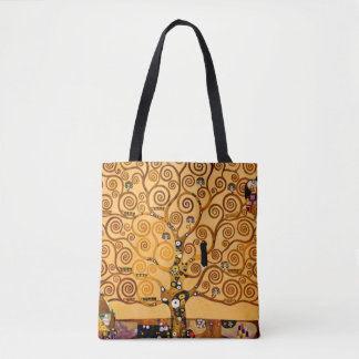 Tree of Life by Gustav Klimt Fine Art Tote Bag