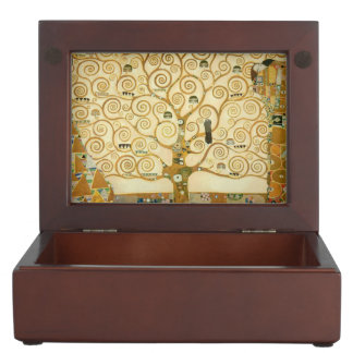 Tree of Life by Gustav Klimt Keepsake Box