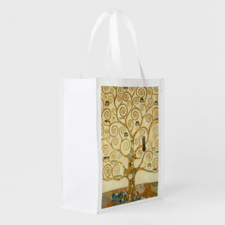 Tree of Life by Gustav Klimt Reusable Grocery Bag