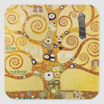 Tree of Life by Klimt Square Sticker
