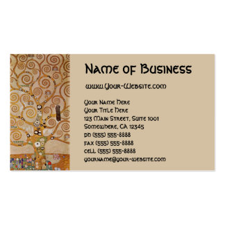Tree of Life by Klimt, Stylized Art Nouveau Symbol Business Card