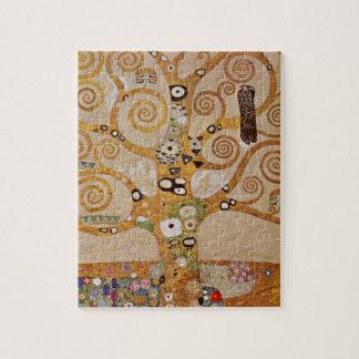 Tree of Life by Klimt, Stylized Art Nouveau Symbol Puzzle
