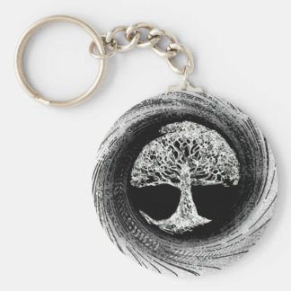 Tree of Life Calmness Within Basic Round Button Key Ring