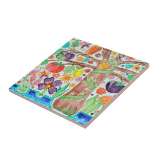 Tree of Life Ceramic Tile