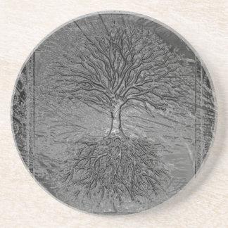 Tree of Life Chrome Coaster