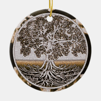 Tree of Life Circle of Life in Brown Christmas Ornament