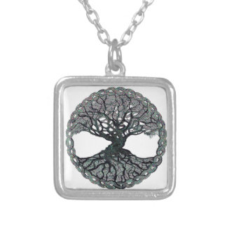 Tree of Life Circle of Life Silver Plated Necklace