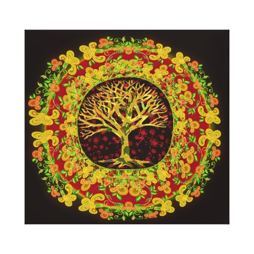 Tree of Life Constant Change Stretched Canvas Print