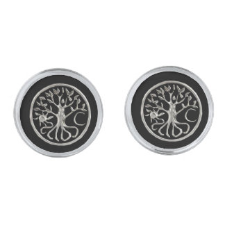 Tree Of Life Cufflinks Silver Finish Cufflinks