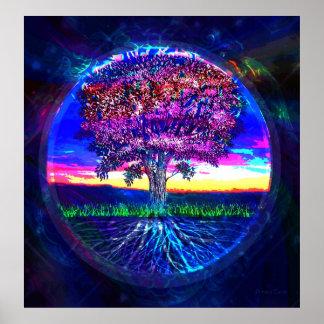 Tree of Life Dark Blue Print