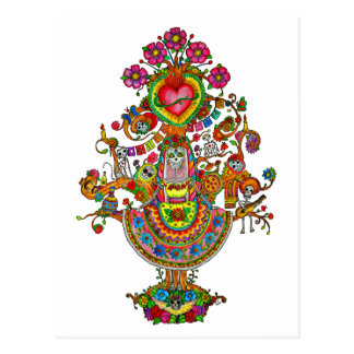 Tree of Life Dia de Muertos Postcard