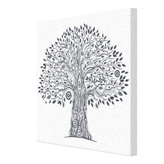 Tree Of Life Doodle 6 Canvas Print