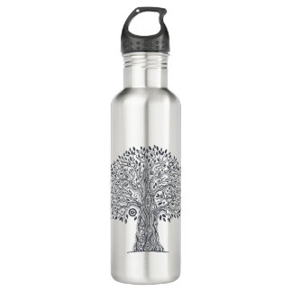 Tree Of Life Doodle 710 Ml Water Bottle