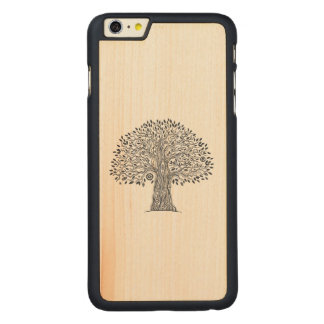Tree Of Life Doodle Carved Maple iPhone 6 Plus Case