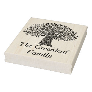 Tree Of Life Doodle Rubber Stamp