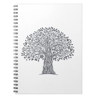Tree Of Life Doodle Spiral Notebook