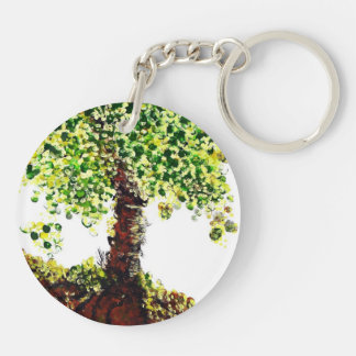 Tree of Life Double-Sided Round Acrylic Key Ring