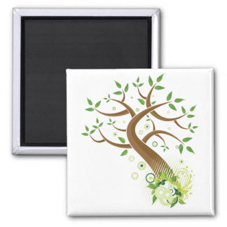 Tree of Life ~ Earth Mother Tree Square Magnet