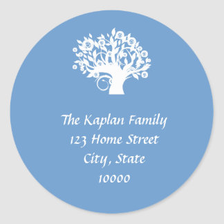 Tree of Life Envelope Seal Bar Bat Mitzvah Wedding Round Sticker