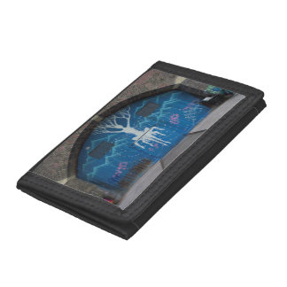 Tree Of Life Graffiti Tri-fold Wallets
