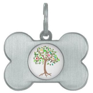 Tree of Life Green & Tan Dog Tag Pet Name Tag