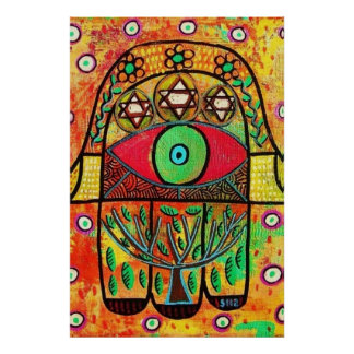 Tree Of Life Hamsa Poster