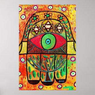 Tree Of Life Hamsa Poster