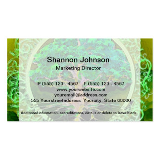 Tree of Life Health and Prosperity Business Card Template