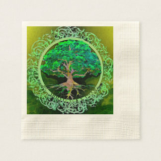 Tree of Life Health and Prosperity Disposable Serviettes