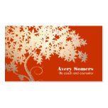 Tree of Life Health and Wellness Orange Business Cards