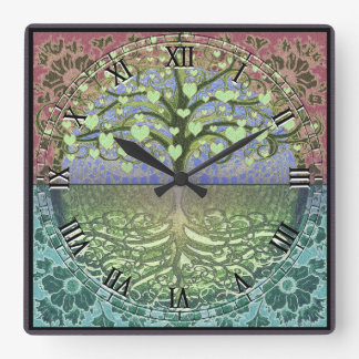 Tree of Life Heart by Amelia Carrie Wall Clocks