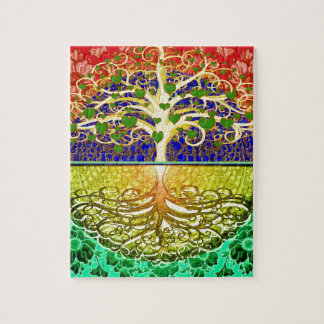 Tree of Life Heart Jigsaw Puzzle