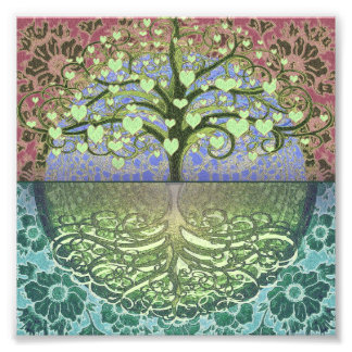 Tree of Life Hearts and Love Photo Art
