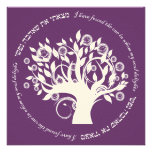 Tree of Life Hebrew Jewish Wedding Purple