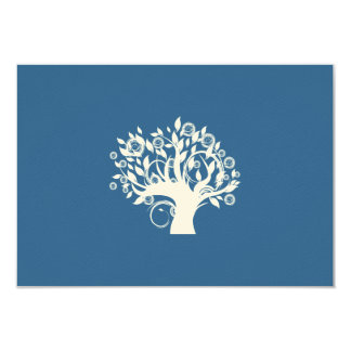 Tree of Life Hebrew Jewish Wedding RSVP 9 Cm X 13 Cm Invitation Card