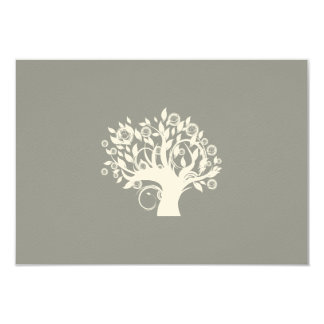 Tree of Life Hebrew Jewish Wedding RSVP Silver Personalized Invites