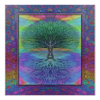Tree of Life Hope and Peace Poster