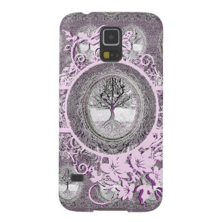 Tree of Life in Black and White with Flowers Galaxy S5 Cover