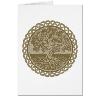 Tree of Life in Brown Greeting Card