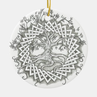 Tree of Life in Celtic Design Christmas Ornament