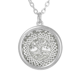 Tree of Life in Celtic Design Silver Plated Necklace