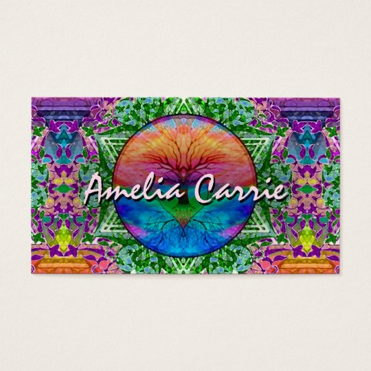Tree of Life in Rainbow Colours Business Card