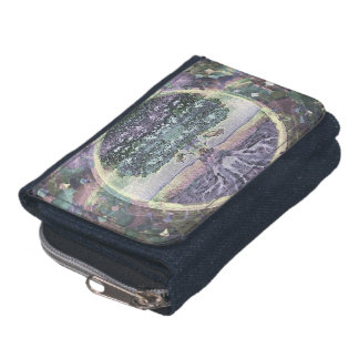 Tree of Life in Rainbow Metal Colors Wallets