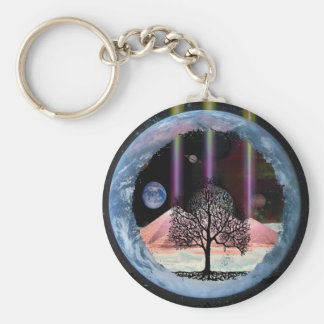 Tree of Life Inner Truth Basic Round Button Key Ring