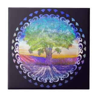 Tree of Life Love, Peace, Balance Tile