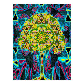 Tree of Life Mandala by Amelia Carrie Postcard